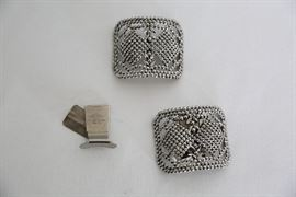 Vintage marcasite shoe clips. Made in France.