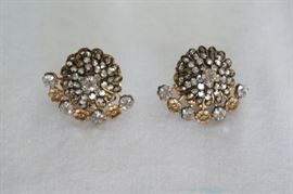 Miriam Haskell earrings. Sparkly.