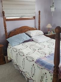 4 Poster bed with matching 2 dressers and 2 night stands -- gorgeous! (Bedspread not included in the sale)