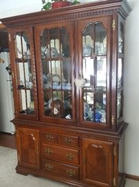 Absolutely gorgeous china cabinet!  All the trinkets inside are also for sale!