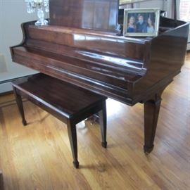 KNABE 1974  BABY GRANDE PIANO