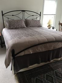 Kind size bed by Brass Beds of VA.