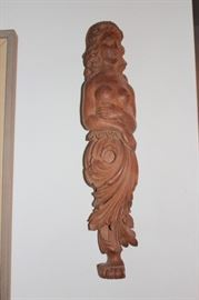 Figural Wall Carving