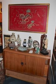 Stereo Cabinet, Decorative Items / Figurines and Art in Red