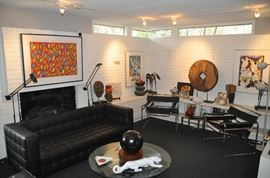Fantastic Family Room filled with modern furniture and decor!