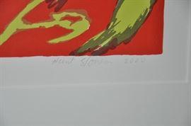 Hunt Slonem's signature