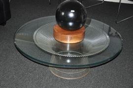 """Fantastic Warren Platner fir Knoll Stainless 40"""" Coffee Table, (needs new glass)"""