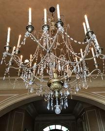 Wonderful large Italian chandelier
