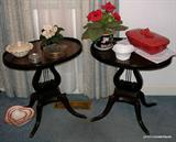 Matching Mahogany lyre End-Tables