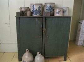 jelly cupboard & stoneware