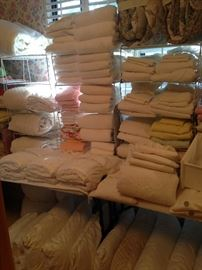 More sheets, blankets, and pillows