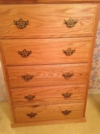 One of two matching chest of drawers