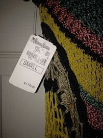 Interesting knitted dress with tag - size small