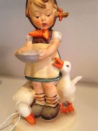 """Hummel Goebel """"Be Patient -  Girl with Geese""""  4.5 inches in height"""