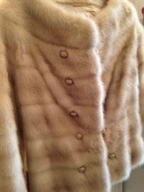 Button front mink jacket