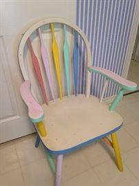 Pastel Windsor chair