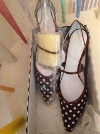 Never worn polka dot shoes