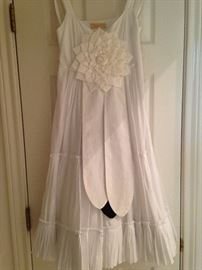 Precious white dress complete with Neiman Marcus tag