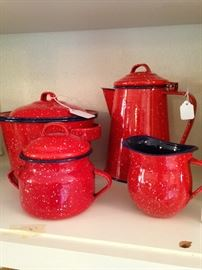 Classic red  speckleware