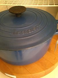 Blue Le Creuset (made in France) cookware