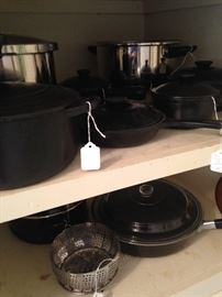 Variety of skillets, pots, and pans
