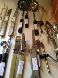 Variety of utensils
