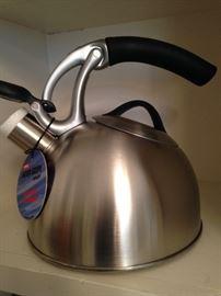 Brand new stainless tea kettle