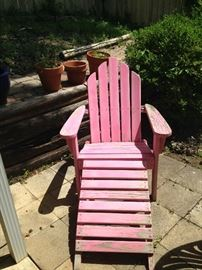 Pink Adirondack chair