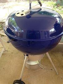 Blue Weber grill
