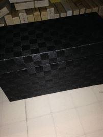 Black storage chest