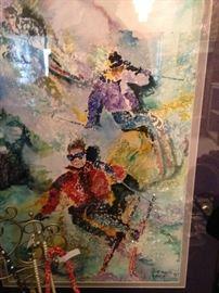 Skiing contemporary art
