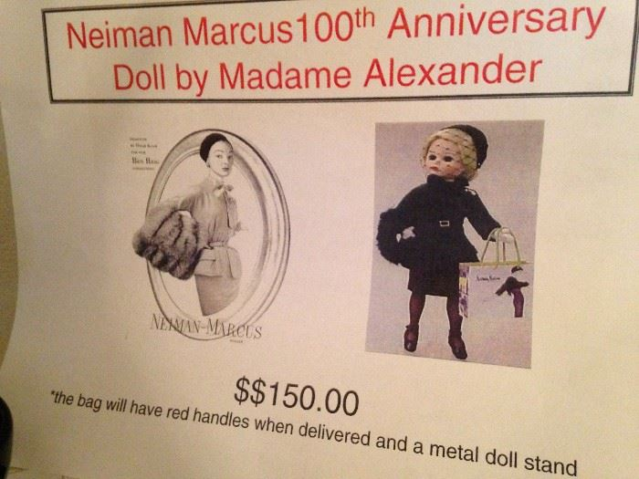 Neiman Marcus 100th Anniversay Doll by Madame Alexander