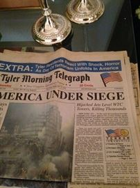 Tyler paper the day after 9-11 . . . September 12, 2001