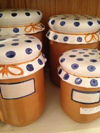 Polka dot canister set