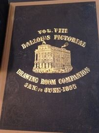 Vol. VIII Ballou's Pictorial Drawing Room Companion - Jan. to June - 1855 (very rare)