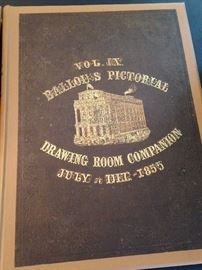 Vol. VIII Ballou's Pictorial Drawing Room Companion - July to Dec. - 1855