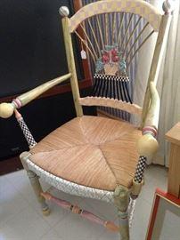 MacKenzie-Childs Dark Flower Basket Armchair (Neiman Marcus tag still on it))