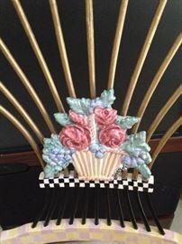 MacKenzie-Childs Dark Flower Basket Armchair