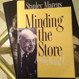 """Autographed copy of """"Minding the Store"""" by Stanley Marcus"""