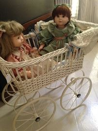 Dolls and carriage