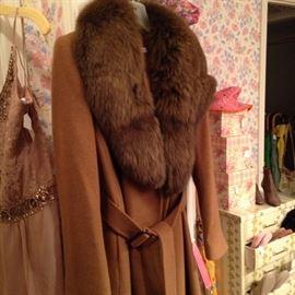 Fox collared coat