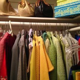 Jackets, suits, purses