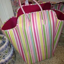 One of two extra large shopping/beach bags