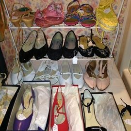Fun and colorful shoes - many have never been worn.