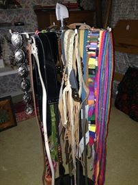 Some of the many belts