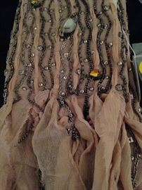 Beaded scarf - still has the Neiman's tag