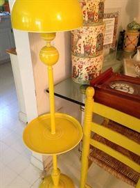 Yellow table lamp