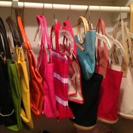 Colorful shopping bags/purses