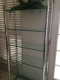 Silver and glass etagere
