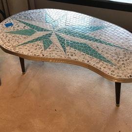 Mid Century Mosaic Starburst Coffee / Cocktail Table